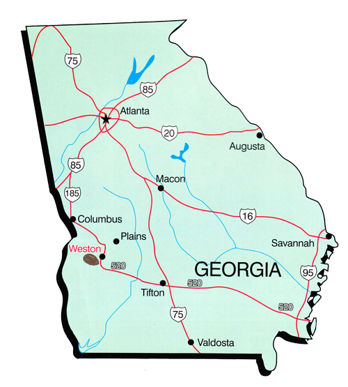 Map of Georgia Merritt Pecan Co.